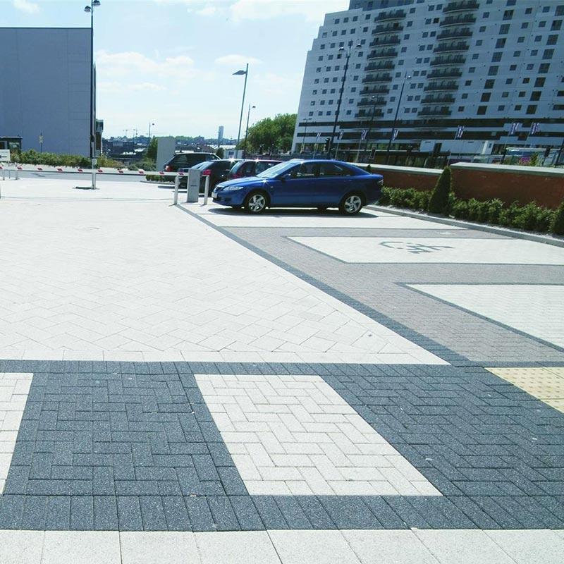 Block paved car parks Richmond